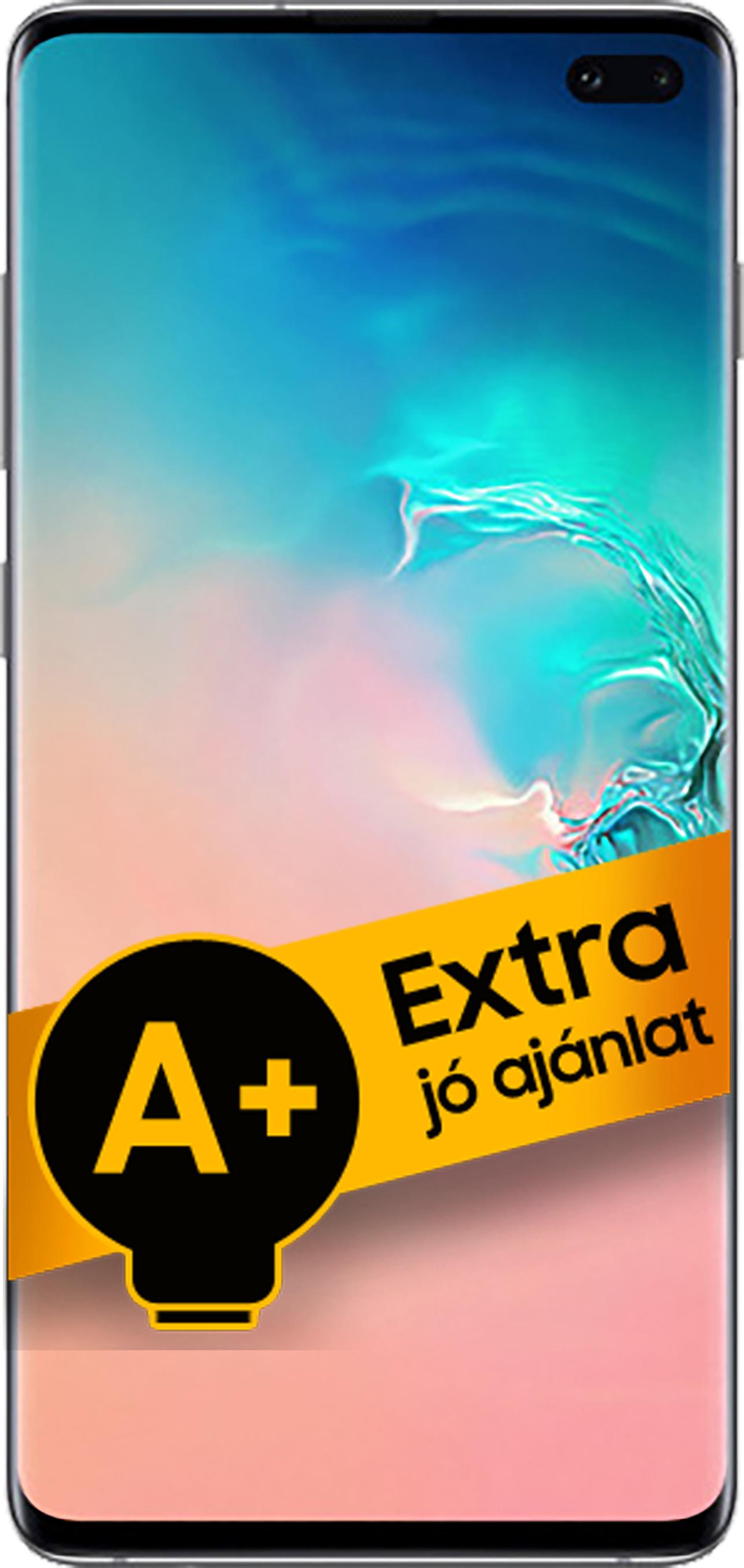 Samsung Galaxy S10+ DualSIM 128GB (Prizma Fehér) 8GB RAM - 1 év gyártói jótállás